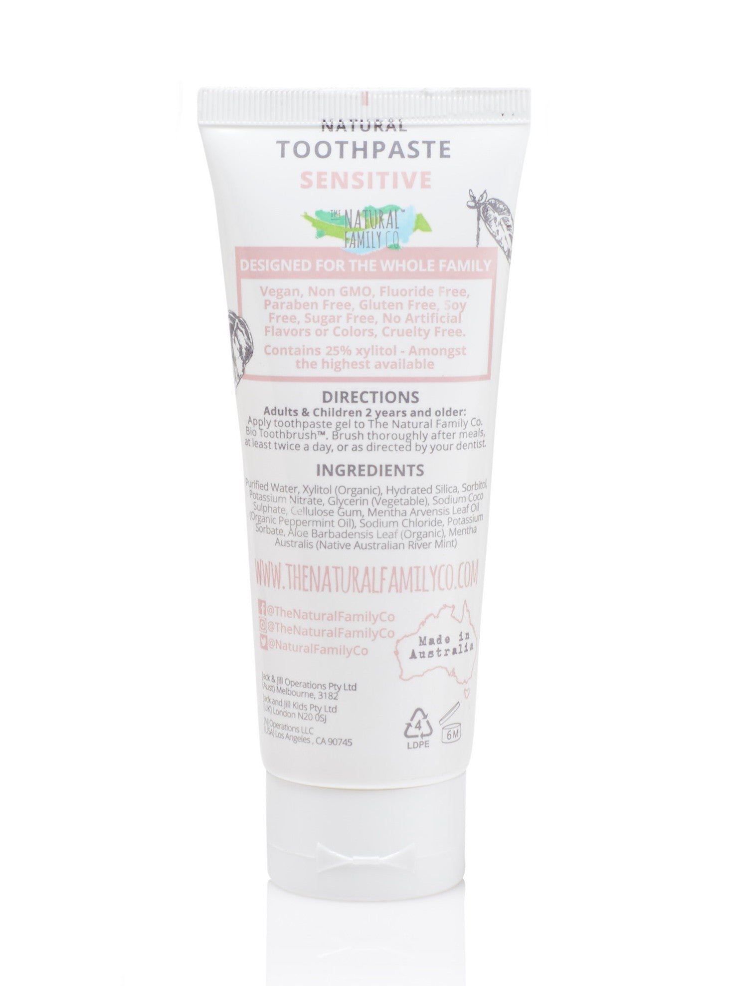 The Natural Family Co Sensitive Toothpaste -Adult