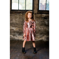 Rock Your Kid Metallic Pink Mad Men LS Dress