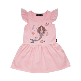 Rock Your Kid Mermaid Sleeveless Drop Waist Dress