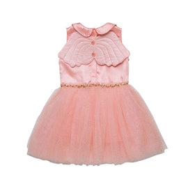 Rock Your Kid Pink Peter Pan Collar Wing Dress