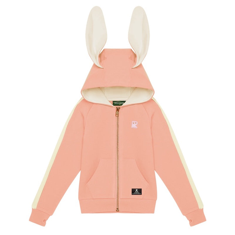 Rock Your Kid Pink Bunny Ears Hoodie