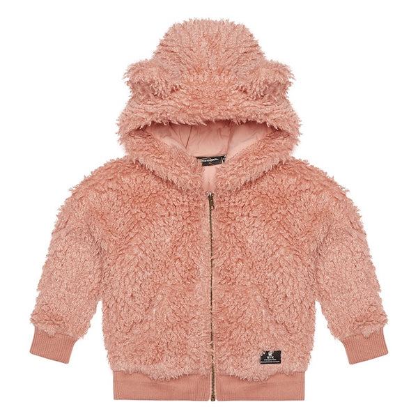Rock Your Kid Pink Sherpa Bear Hoodie