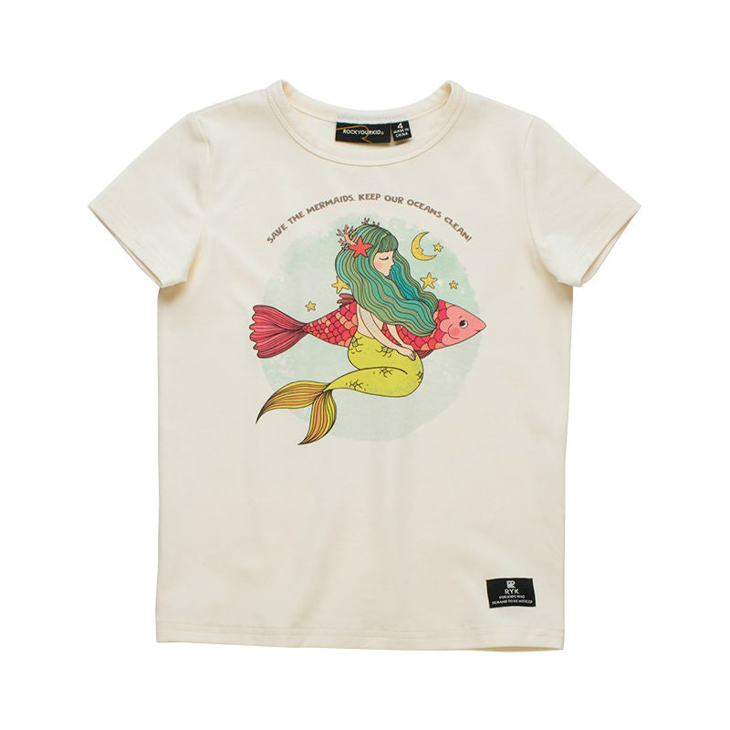 Rock Your Kid Save The Mermaids T-Shirt