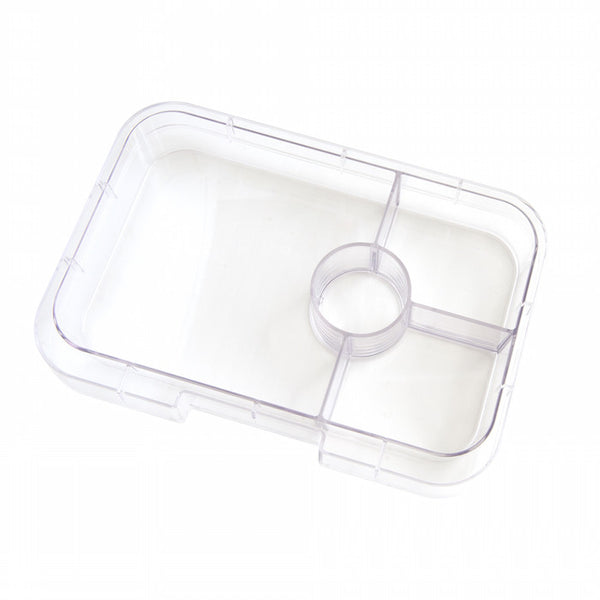 Yumbox Tapas Interchangeable Tray Clear - 4 Compartment