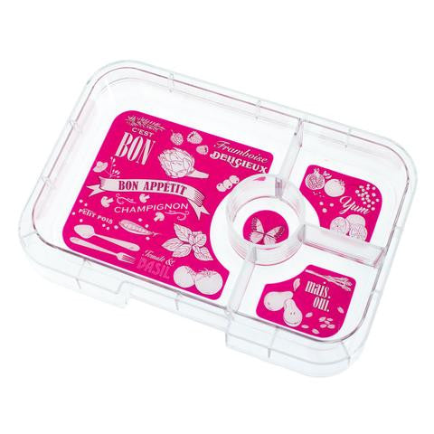 Yumbox Tapas Interchangeable Tray Hot Pink - 4 Compartment