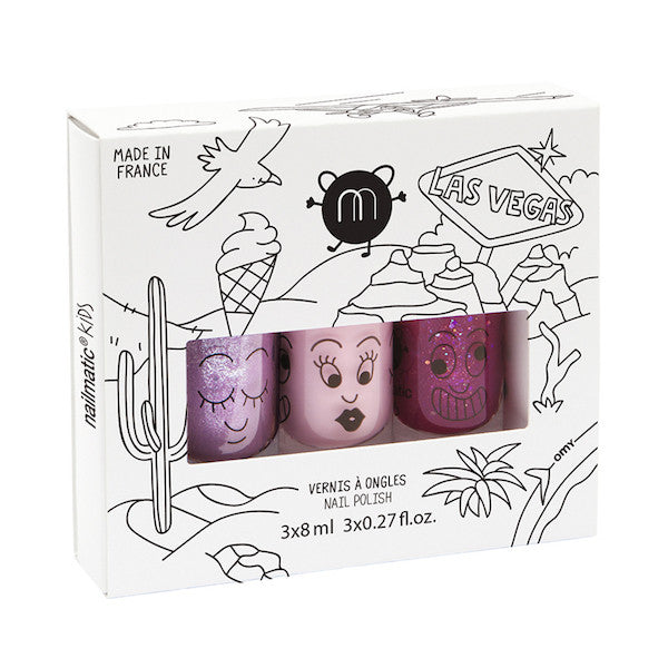 Nailmatic Kids Nail Polish Pack Las Vegas (3 pack)