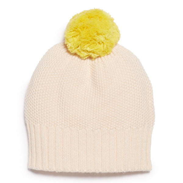 Wilson & Frenchy Knitted Hat Oatmeal/Pineapple