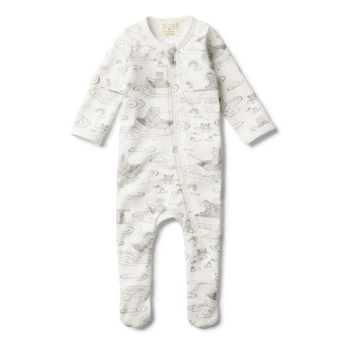 Wilson & Frenchy Little Row Boat Zip Suit With Feet