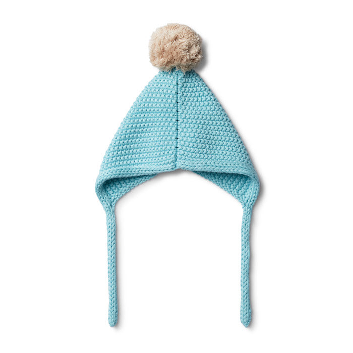 Wilson & Frenchy Petit Blue Knitted Bonnet