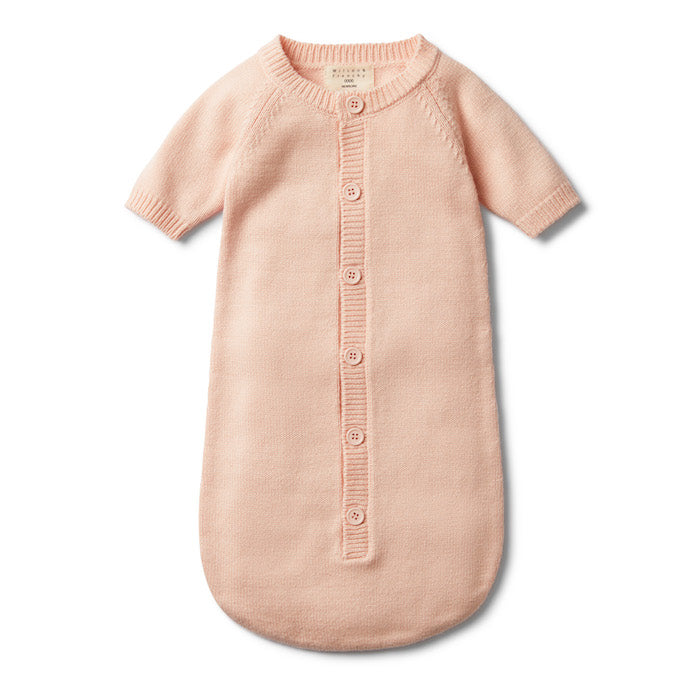 Wilson & Frenchy Peachy Pink Knitted Cocoon Sleeper