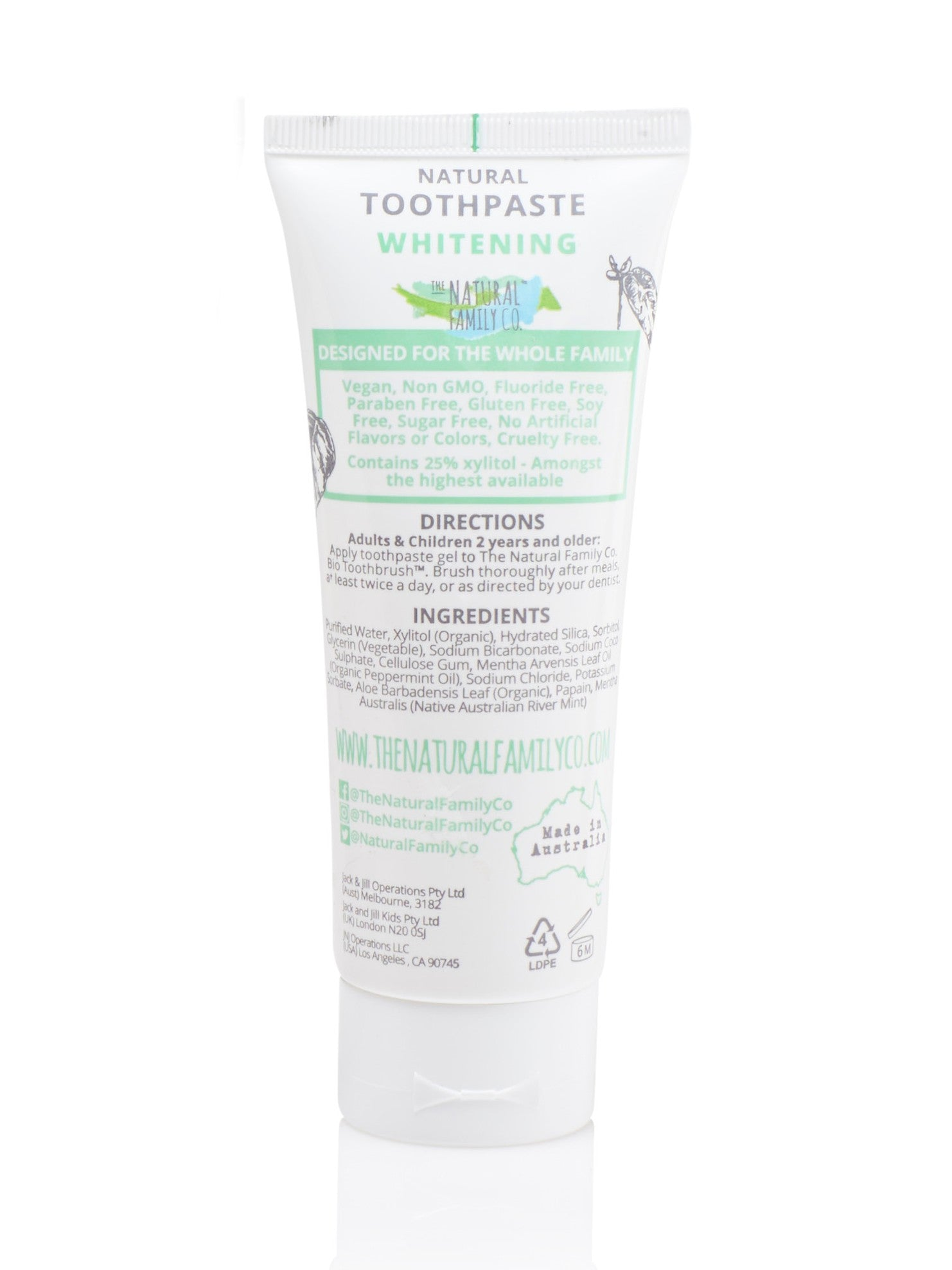 The Natural Family Co Whitening Toothpaste -Adult