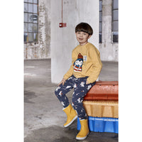 Kukukid Pocket Pants Navy Blue Polar Bear