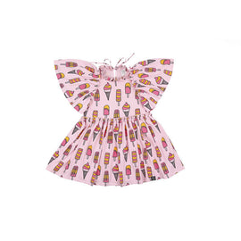 Kukukid Cape Dress Pale Pink Icecream