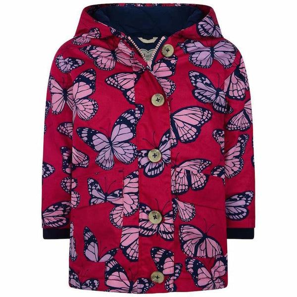 Hatley Fluttering Kaleidoscope Coated Cotton Raincoat