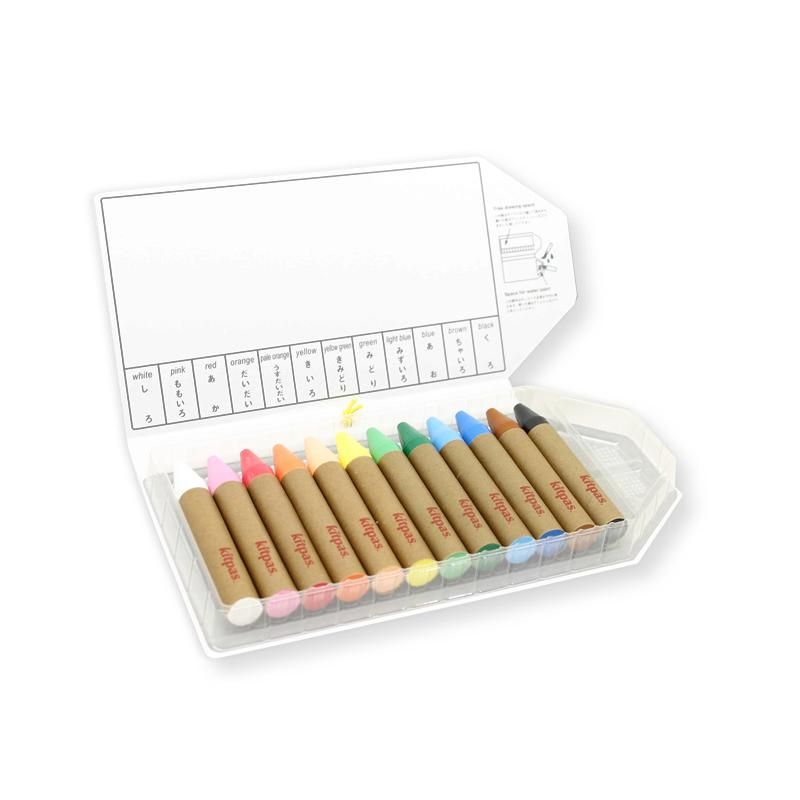 Kitpas Large Stick Crayons 12 colours