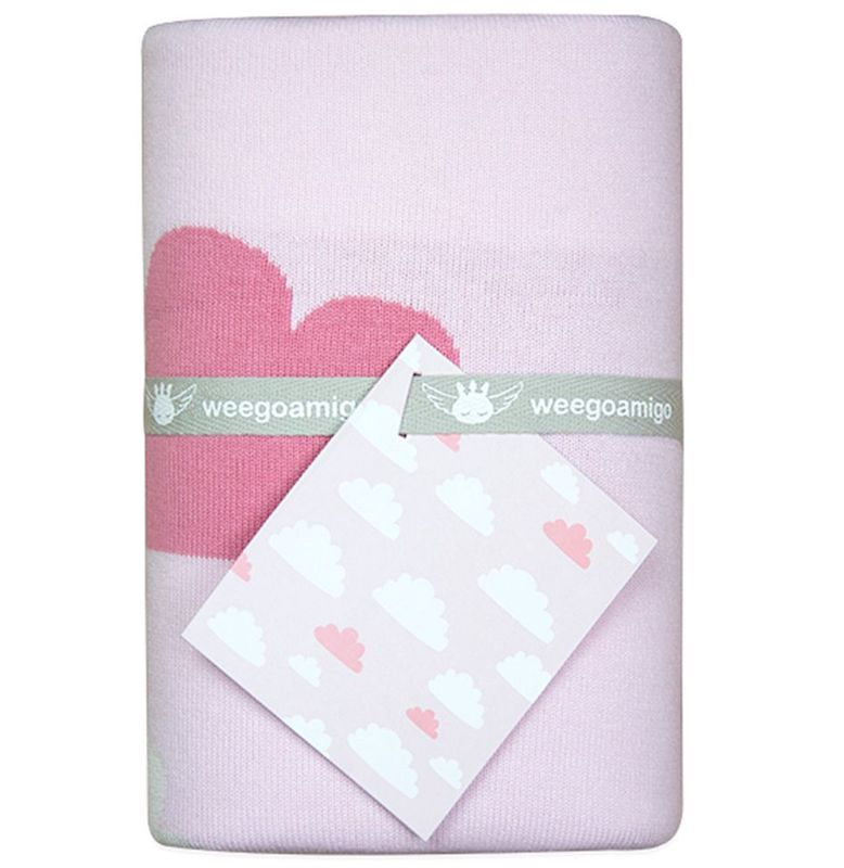 Weegoamigo Knit Blanket Sky High Pink