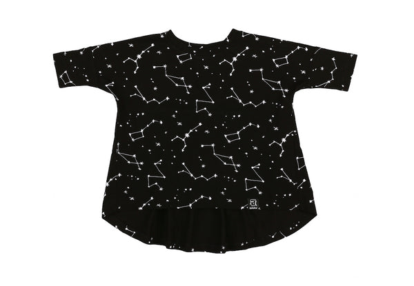Kukukid Oversized Tunic Black Constellation