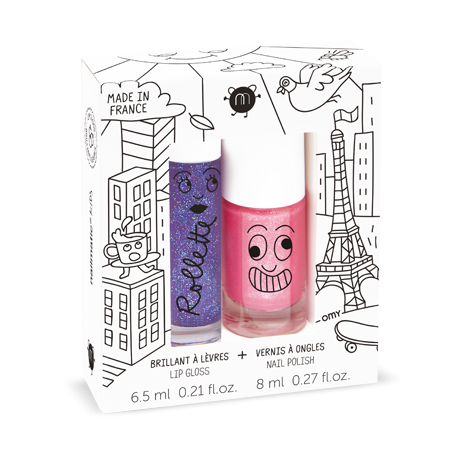 Nailmatic Lovely City - Rollette Nail Polish Duo Set