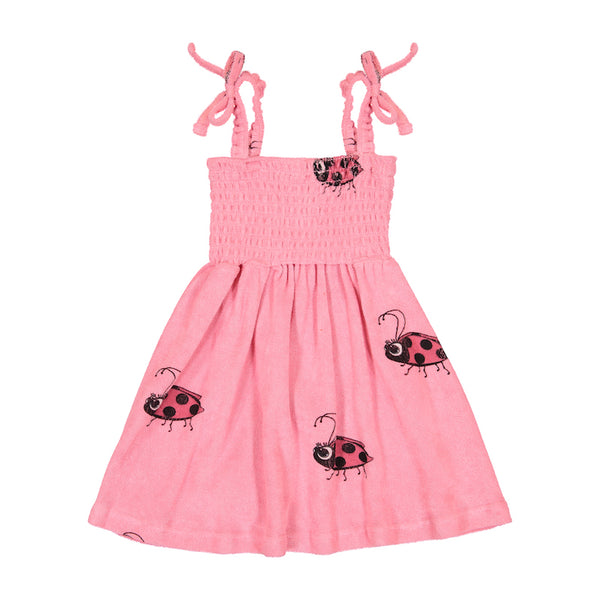 Hugo Loves Tiki Terry 80's Dress - Pink Ladybug