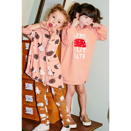 Kukukid POCKET DRESS PEACH REBEL BUT CUTE