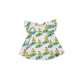 Kukukid Pom pom Dress Grey Banana