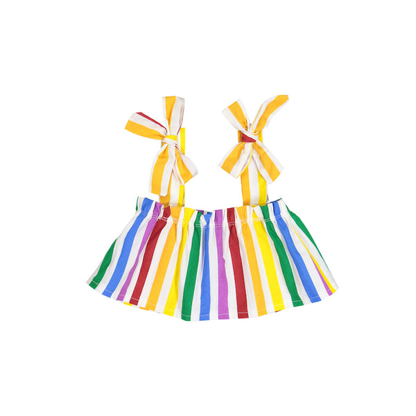 Hugo Loves Tiki Flutter Top - Rainbow Stripe