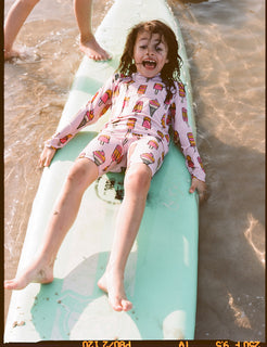 Kukukid Swim Short Legging Pale Pink Icecream