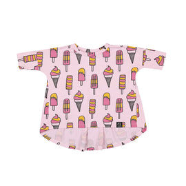 Kukukid Oversized Tunic Pale Pink Icecream