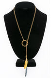 Double Lariat Necklace – Gold or Nickel