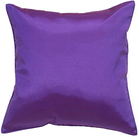 Avarada Solid Throw Pillow Cover Decorative Cushion Zippered 18X18 Inch (45X45 Cm) Purple