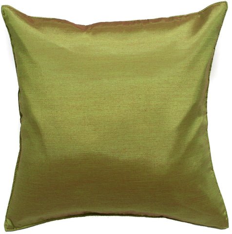 Avarada Solid Throw Pillow Cover Decorative Cushion Zippered 18X18 Inch (45X45 Cm) Green
