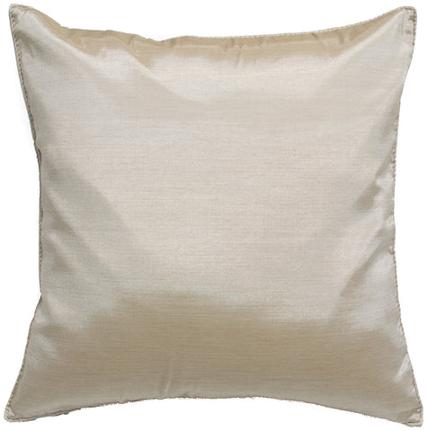 Wondrous Avarada 16X16 Solid Throw Pillow Cover Decorative Sofa Couch Cushion Cover Zippered Beige Inzonedesignstudio Interior Chair Design Inzonedesignstudiocom
