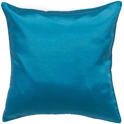Avarada Solid Throw Pillow Cover Decorative Cushion Zippered 18X18 Inch (45X45 Cm) Blue