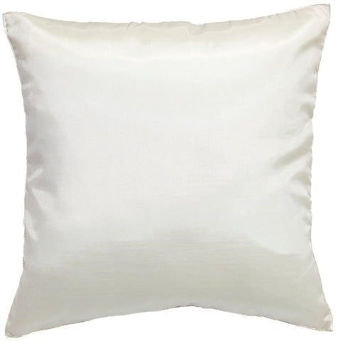 Avarada Solid Throw Pillow Cover Decorative Cushion Zippered 18X18 Inch (45X45 Cm) Ivory White
