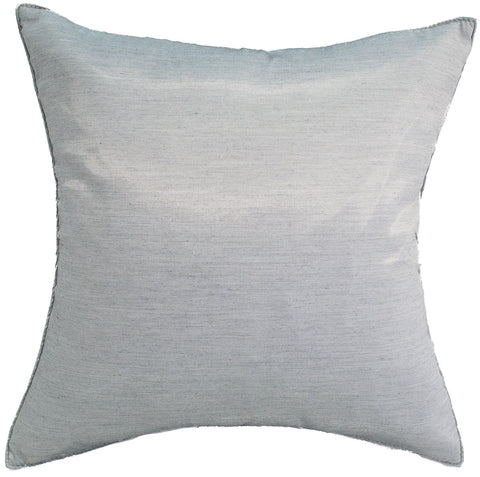 Avarada Solid Throw Pillow Cover Decorative Cushion Zippered 18X18 Inch (45X45 Cm) Silver Gray
