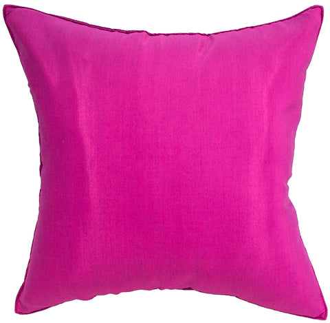 Avarada Solid Throw Pillow Cover Decorative Cushion Zippered 18X18 Inch (45X45 Cm) Fuchsia Pink