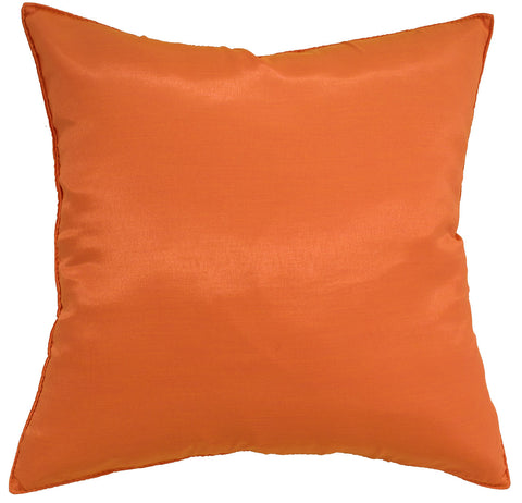 Avarada Solid Throw Pillow Cover Decorative Cushion Zippered 18X18 Inch (45X45 Cm) Orange