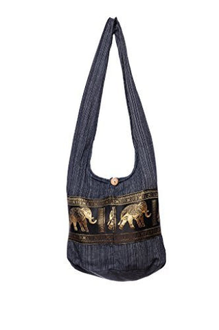 Avarada Cotton Hippie Hobo Sling Crossbody Bag Bohemian Bag Elephant