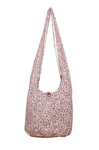 Avarada Cotton Hippie Hobo Sling Crossbody Bag Bohemian Bag Spiral