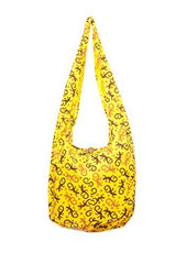 Avarada Cotton Hippie Hobo Sling Crossbody Bag Bohemian Bag Gecko Print