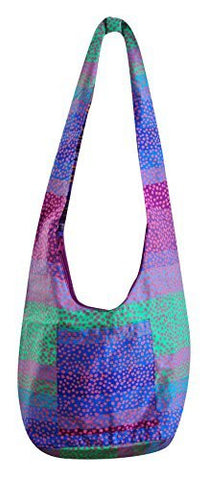 Avarada Women's Hippie Boho Hobo Cotton Sling Crossbody Shoulder Bohemian Bag