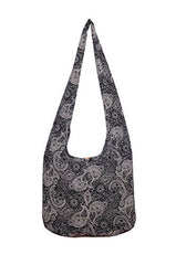 Avarada Cotton Hippie Hobo Sling Crossbody Bag Bohemian Bag Paisley Print
