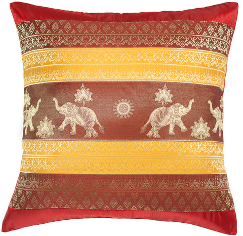Avarada 16x16 Print Elephant Sun Throw Pillow Cover Decorative