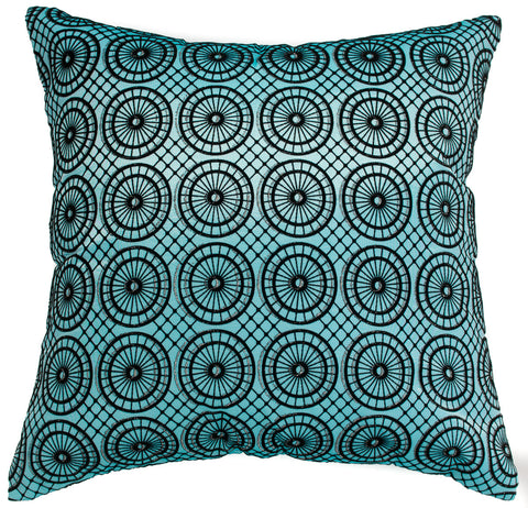 Avarada 40X40 Circular Twinkle Checkered Throw Pillow Cover Interesting Light Blue Throw Pillow Covers