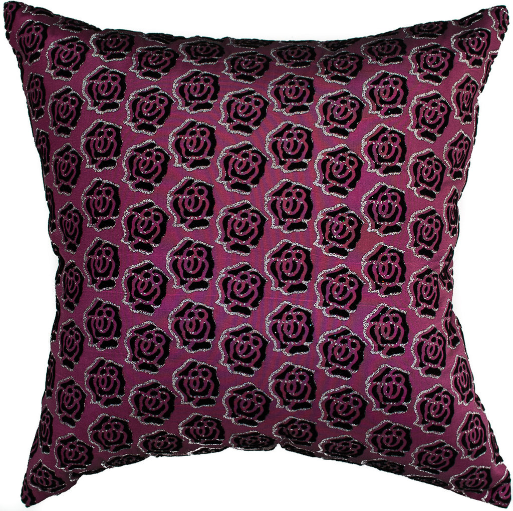 Avarada 24x24quot rose twinkle checkered throw pillow cover for Sofa cushion covers 24x24