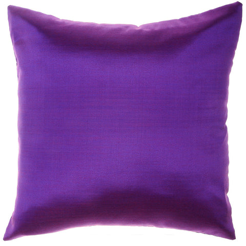 Avarada Solid Throw Pillow Cover Decorative Cushion Zippered 18X18 Inch (45X45 Cm) Dark Purple