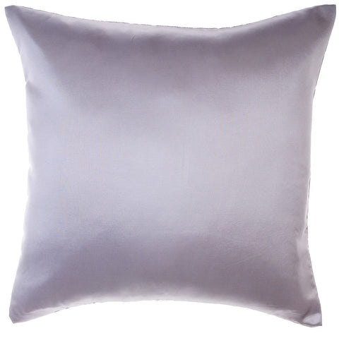 Avarada Solid Throw Pillow Cover Decorative Cushion Zippered 18X18 Inch (45X45 Cm) Silver