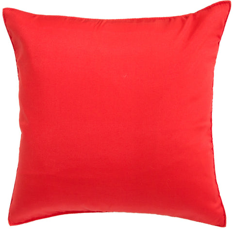 Avarada Solid Throw Pillow Cover Decorative Cushion Zippered 18X18 Inch (45X45 Cm) True Red