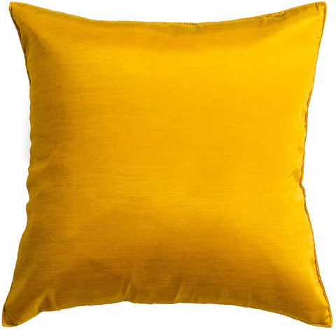 Avarada Solid Throw Pillow Cover Decorative Cushion Zippered 18X18 Inch (45X45 Cm) Vegas Gold