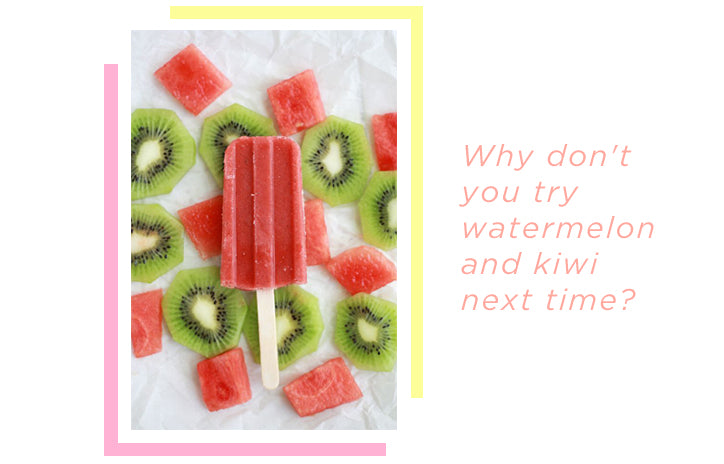 Water and kiwi lollies
